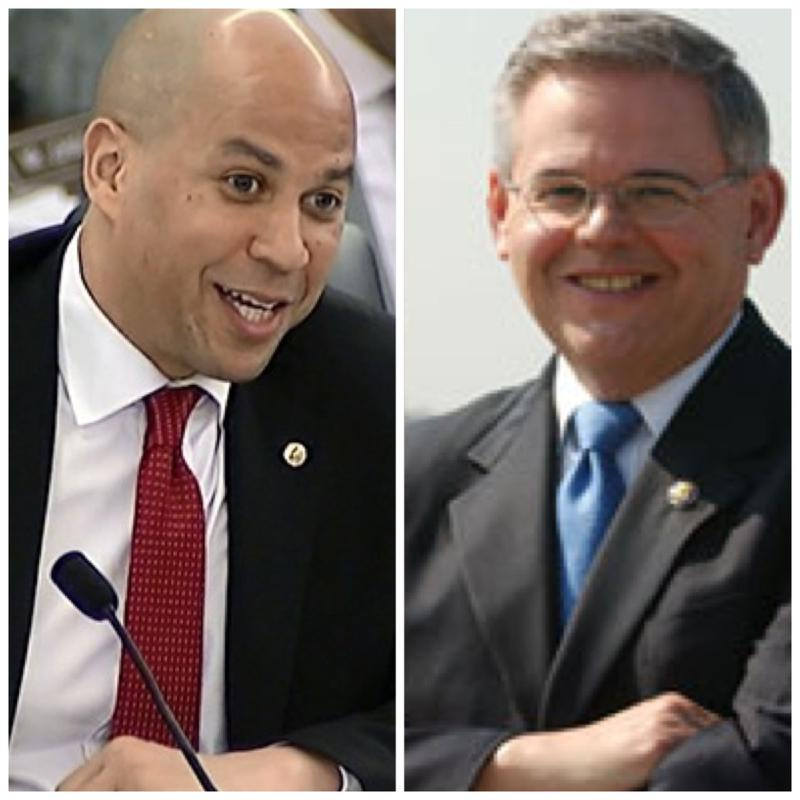 U.S. Senators Cory Booker (D-NJ) and Robert Menendez (D-NJ).