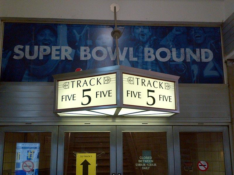 Super Bowl ad at Newark Penn Station
