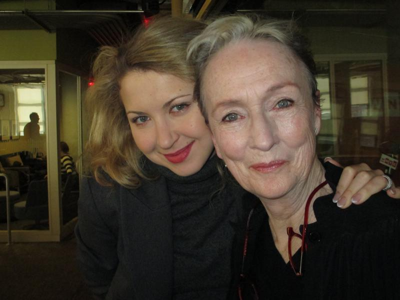 Actors Nina Arianda and Kathleen Chalfant in the WNYC studios
