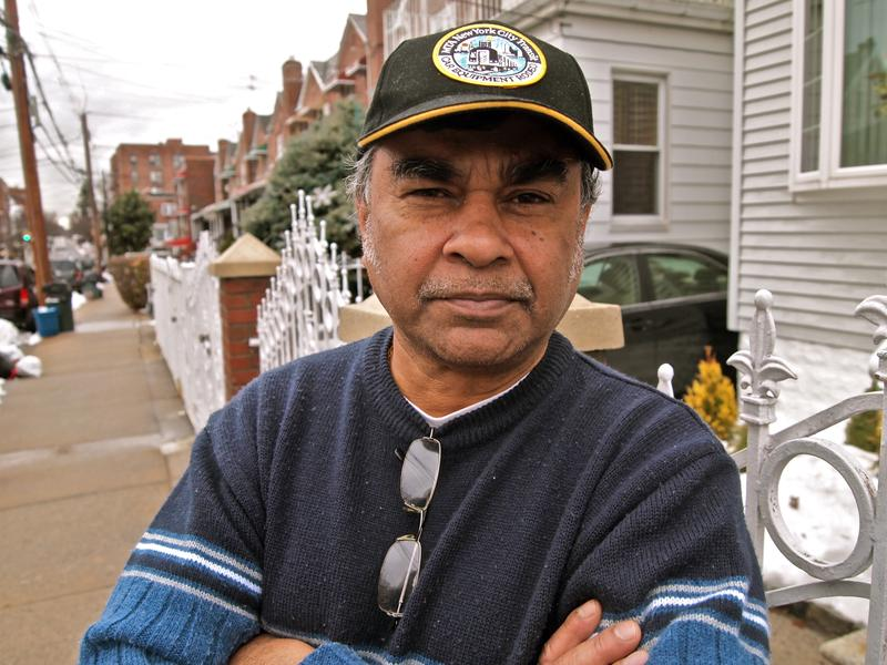 Paul Bhola outside his Wakefield home.