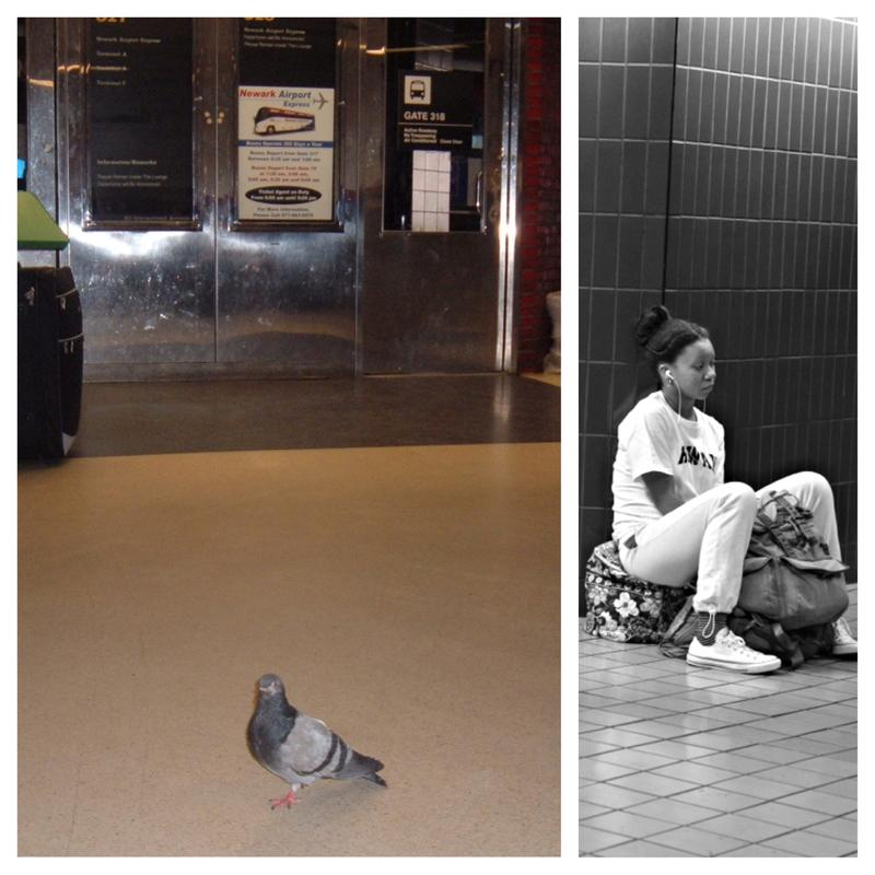 Late night patrons at the Port Authority Bus Terminal.