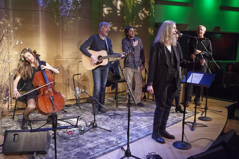 Patti Smith and others performing in The Greene Space