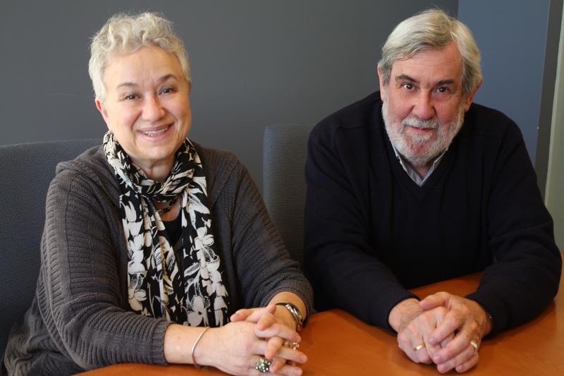 Translator couple Larissa Volokhonsky and Richard Pevear in 2015.