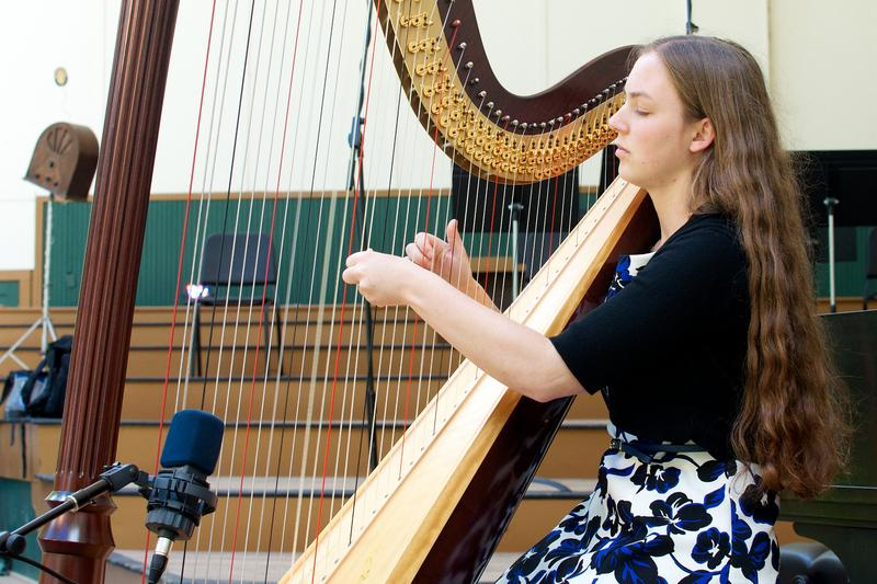 Harpist Phoebe Durand McDonnell performing 'Sonata for Harp' by Paul Hindemith.