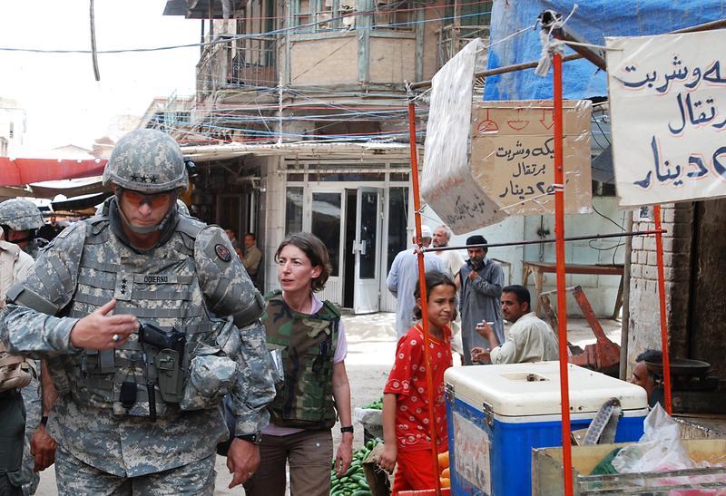 Emma Sky in Iraq