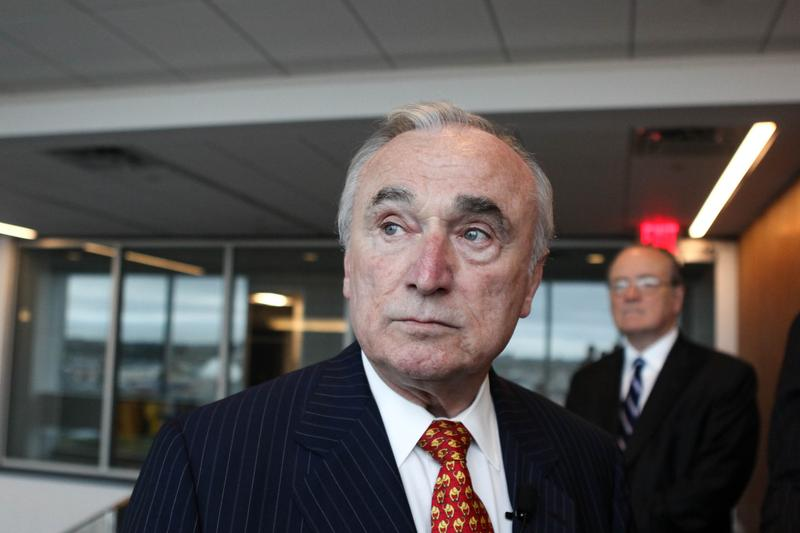 Police Commissioner Bill Bratton at the new police academy in College Point, Queens.