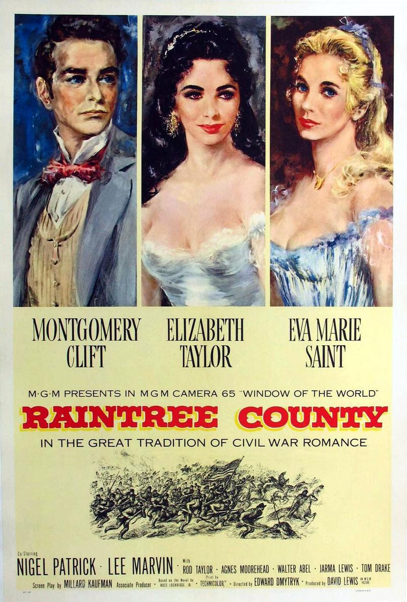 The movie poster for 'Raintree County.'