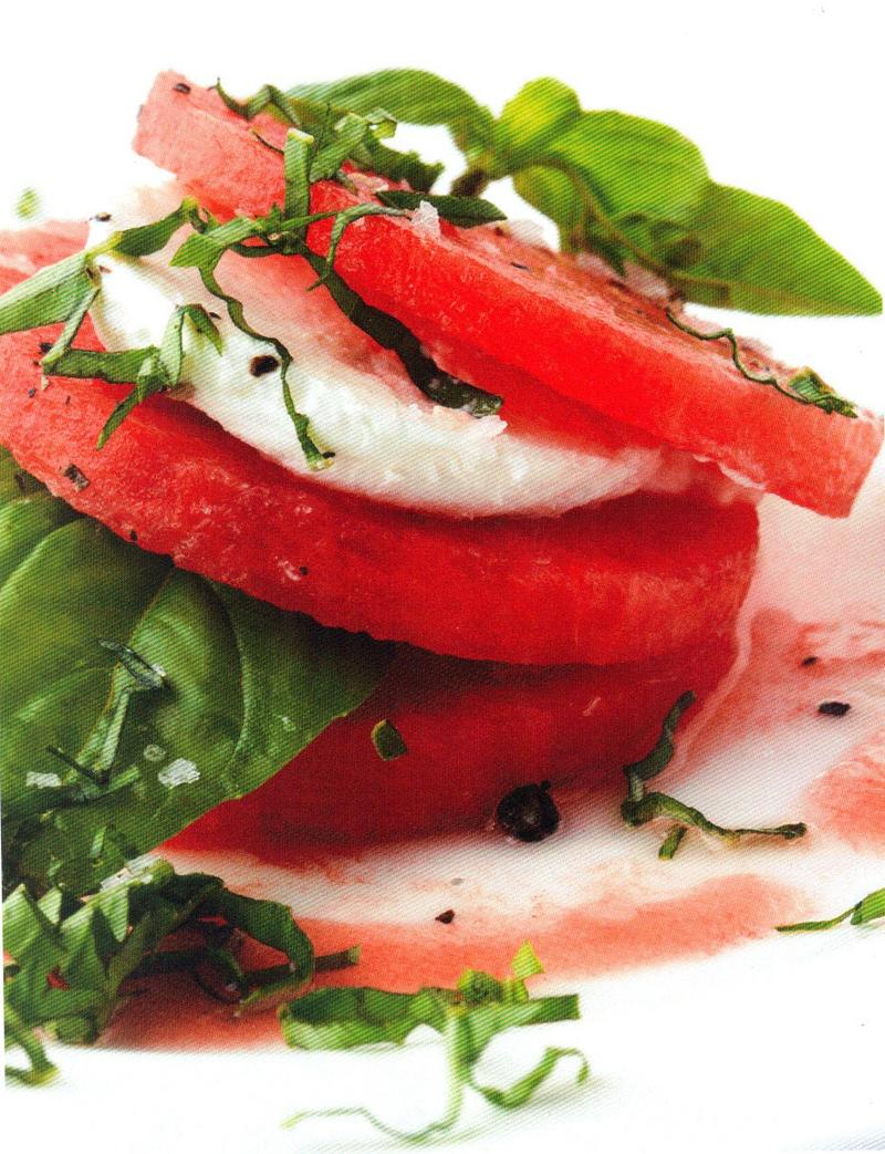 Rozanne Gold shares recipes for summer produce, like watermelon and basil.
