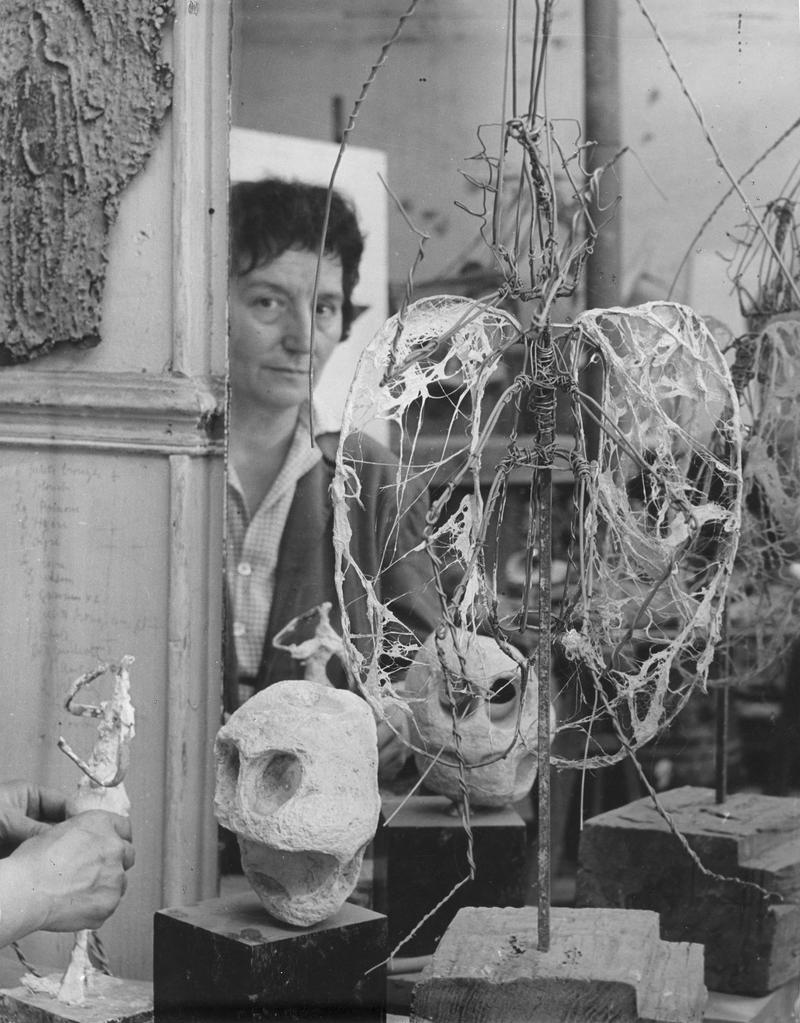 Germaine Richier in her studio on Avenue de Châtillon, Paris.