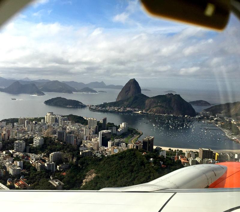 View of Rio de Janeiro from the plane