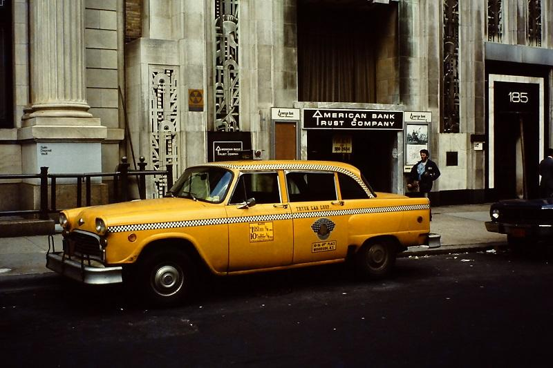 """No. 76, a checkered cab, in """"A History of New York in 101 Objects,"""" by Sam Roberts."""