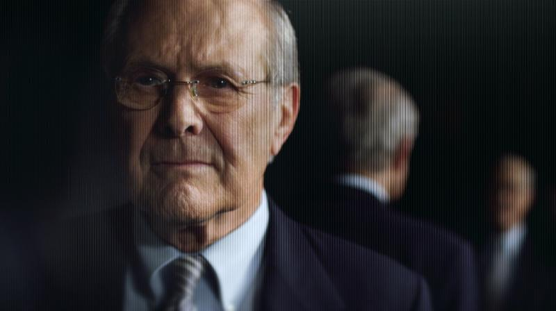 "Donald Rumsfeld in ""The Known Unknown,"" a film by Errol Morris"