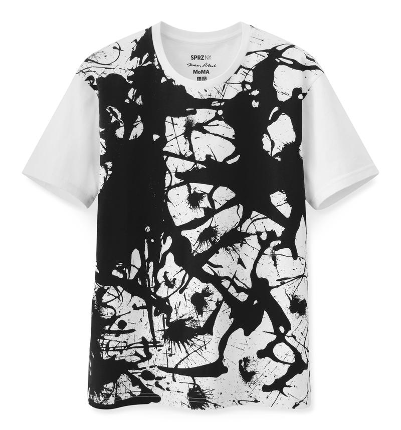 Uniqlo T-shirt with Jackson Pollock art