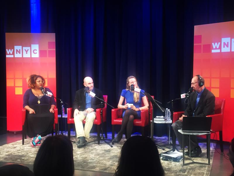 Speakers from the Satire Summit join Brian Lehrer on stage at The Greene Space.