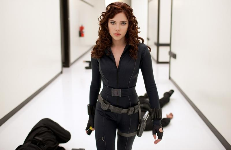 Scarlett Johansson as Black Widow in <em>Iron Man 2.</em>