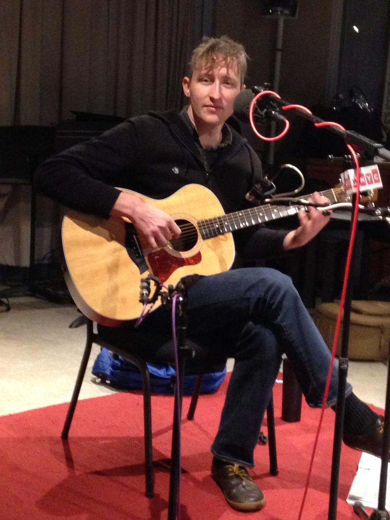 Shane Parish, in the WNYC studio