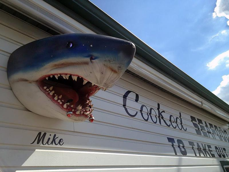Shark imagery persists in Matawan, NJ, the site of a fatal attack.