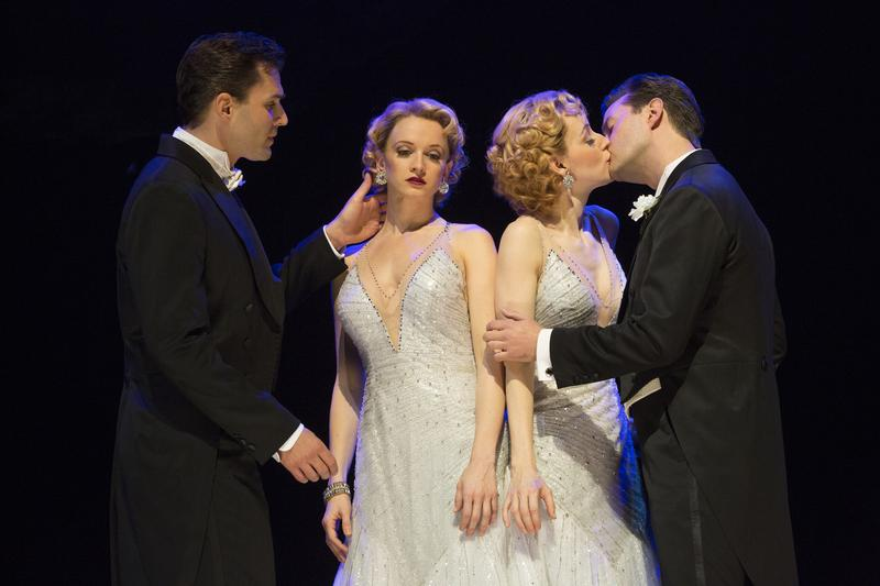 "Ryan Silverman, Emily Padgett, Erin Davie and Matthew Hydzik in a scene from ""Side Show"""