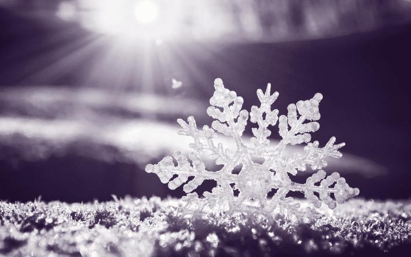A snowflake.