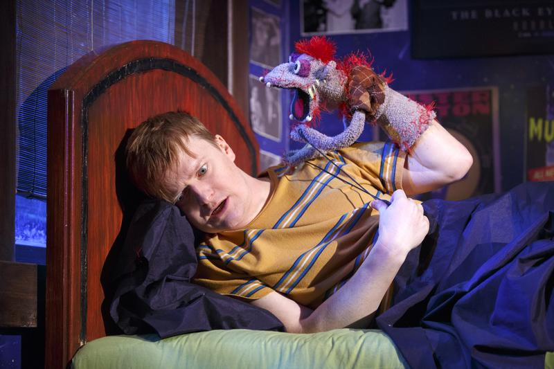 Steven Boyer in a scene from Robert Askins' HAND TO GOD on Broadway.