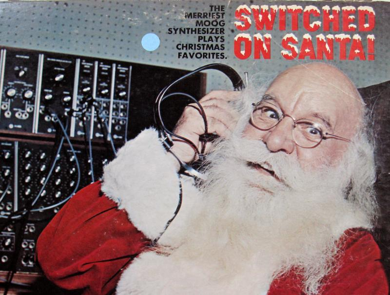 "The cover (detail) of Sy Mann's ""Switched on Santa"""