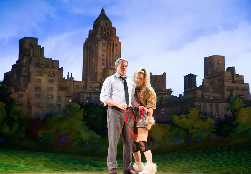 "Still from the Broadway play, ""Sylvia"" featuring Matthew Broderick and Annaleigh Ashford."