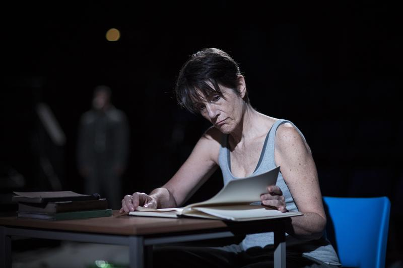 "Harriet Walter in the St. Ann's Warehouse production of ""The Tempest."""