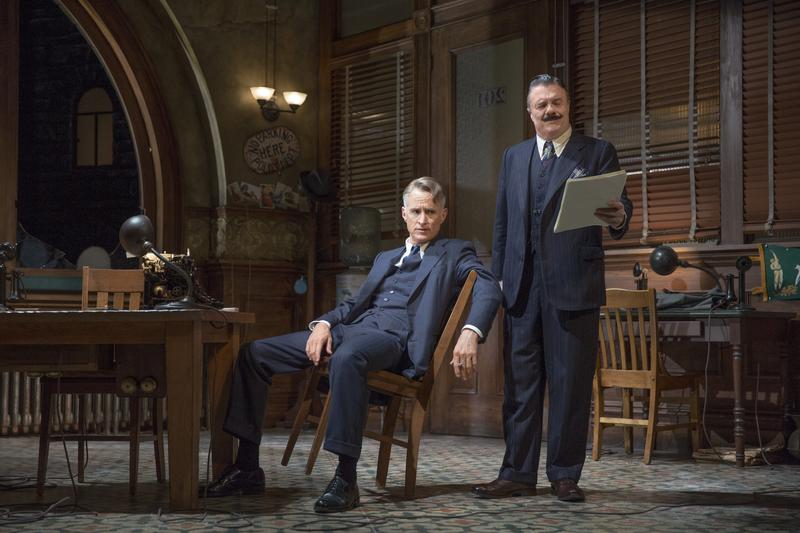 """John Slattery and Nathan Lane in """"The Front Page"""""""