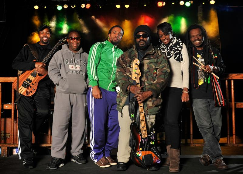 "Original Wailer Aston ""Family Man"" Barrett (third from right) carries on a reggae tradition"