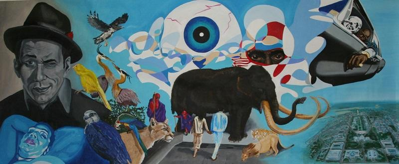 """Artist Issa Ibrahim discusses his memoir """"The Hospital Always Wins."""" Pictured: Issa's painting, """"The Wedding."""""""