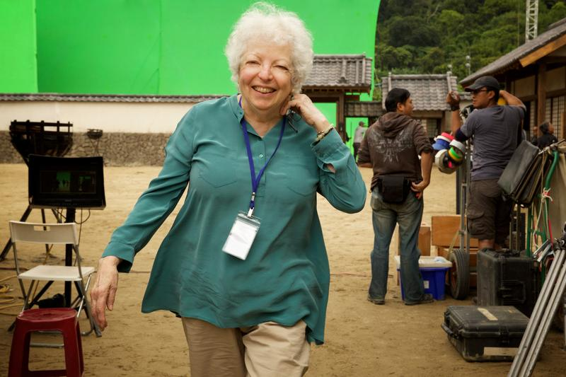 Editor, Thelma Schoonmanker on the set of the film SILENCE by Paramount Pictures, SharpSword Films, and AI Films