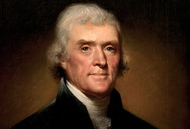 A portrait of Thomas Jefferson painted by Rembrandt