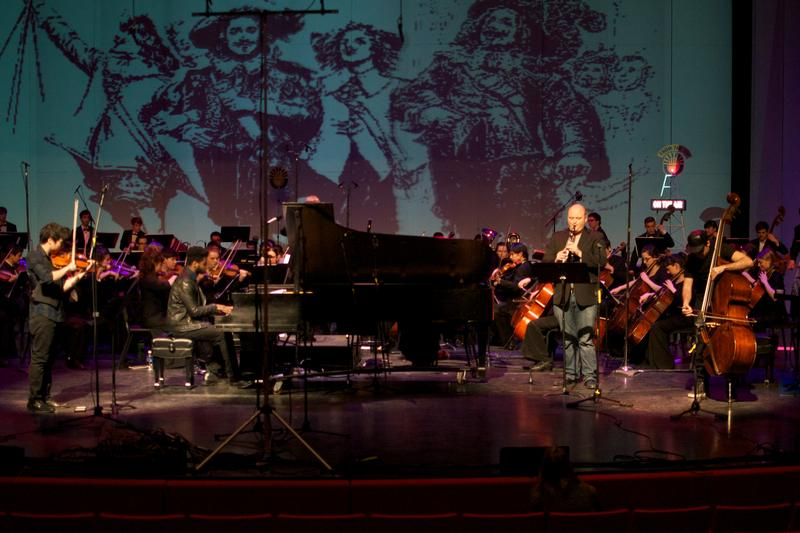 The Interlochen Arts Academy Orchestra performs a world premiere or 'Three Musketeers: A Play for Instruments.'
