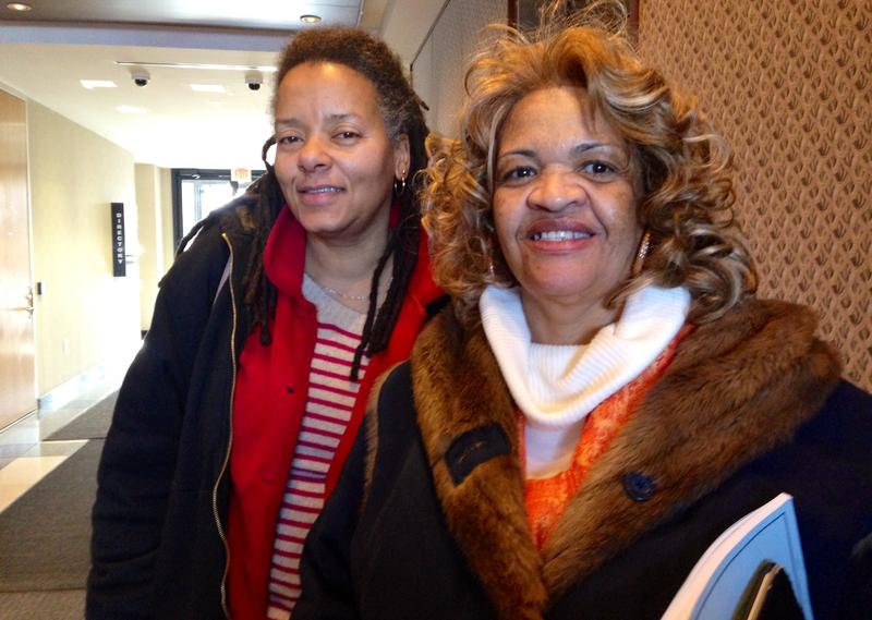NJ toll workers Toni Taylor (left) and Wanda Gilliam (right).