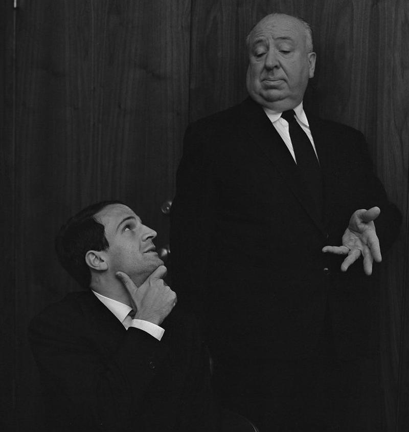 François Truffaut and Alfred Hitchcock
