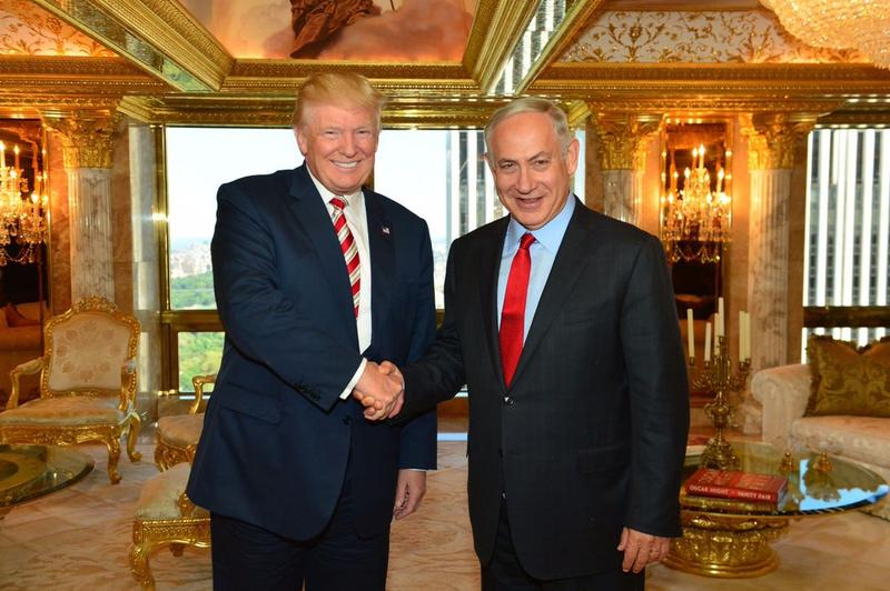 Israeli Prime Minister Benjamin Netanyahu with Donald Trump in New York