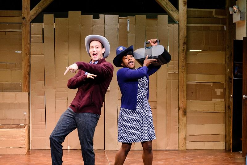 """ctors Scott Sheppard and Jennifer Kidwell created and star in the off-Broadway comedy, """"Underground Railroad Game,"""" at Ars Nova ."""