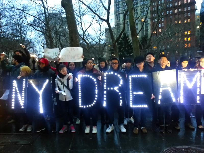 Demonstration following the failure of the NY DREAM Act in March.