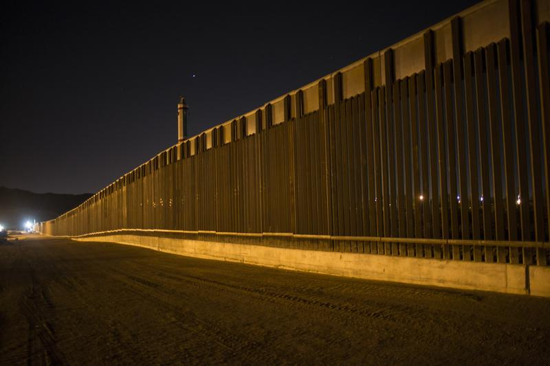 A portion of the new steel border fence stretches along the US-Mexico border in Sunland Park, New Mexico, Thursday, March 30, 2017.