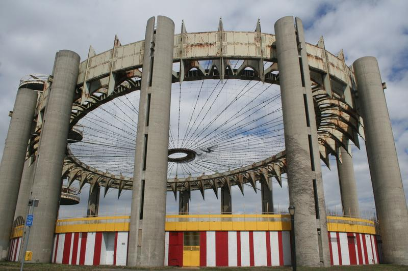 What's left of the New York State Pavilion, built for the 1964 World's Fair.