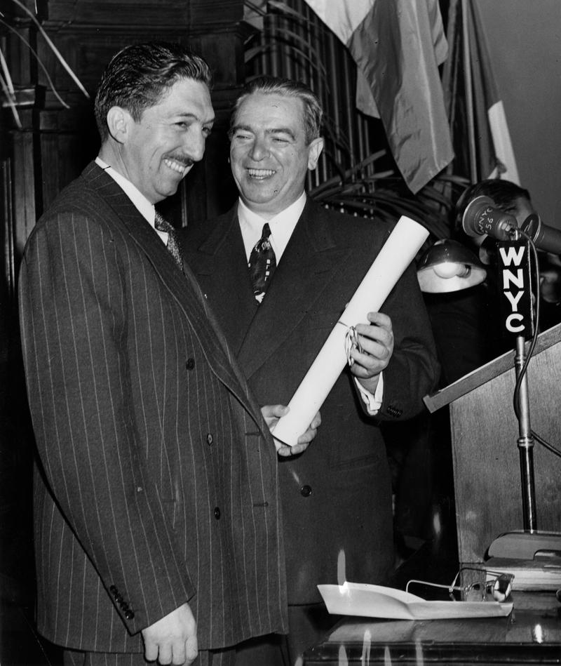 Mexico President Miguel Aleman and Mayor William O' Dwyer