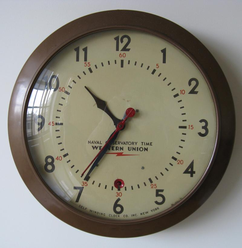 The original Western Union Naval Observatory clock from WNYC's Greenpoint Transmitter site.