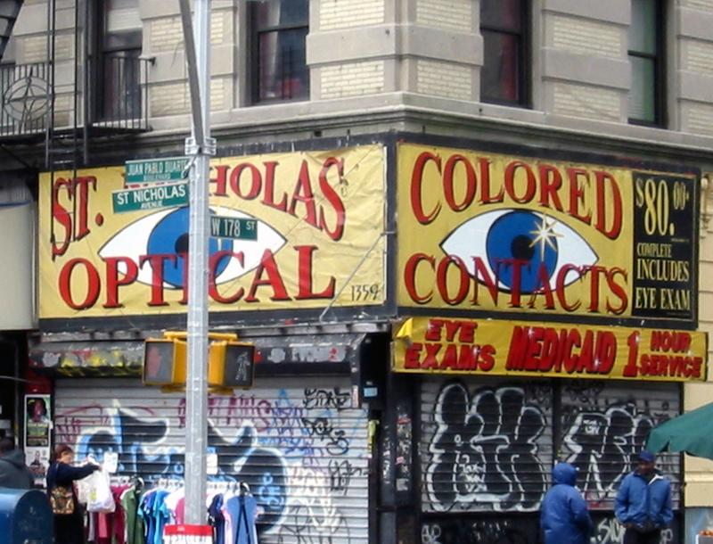 The corner of St. Nicholas Avenue and 178th Street in Washington Heights