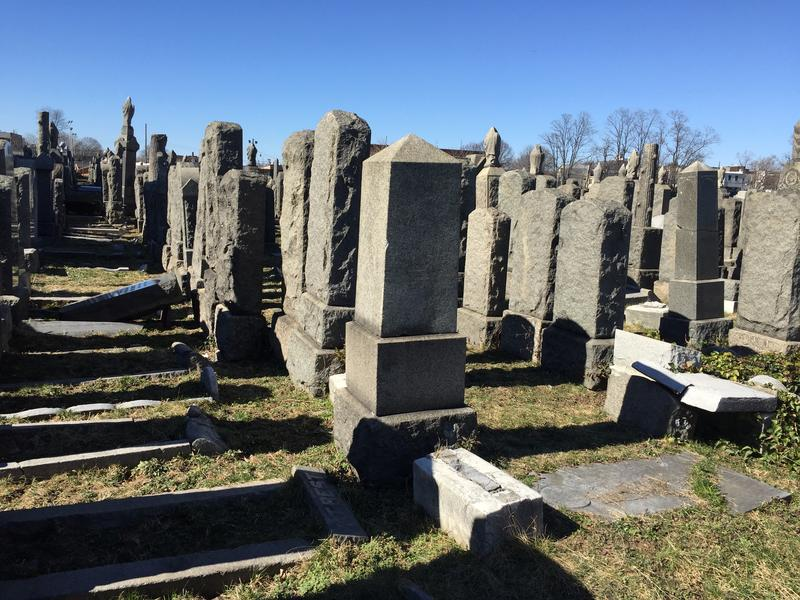 Headstones toppled in Brooklyn Jewish cemetery