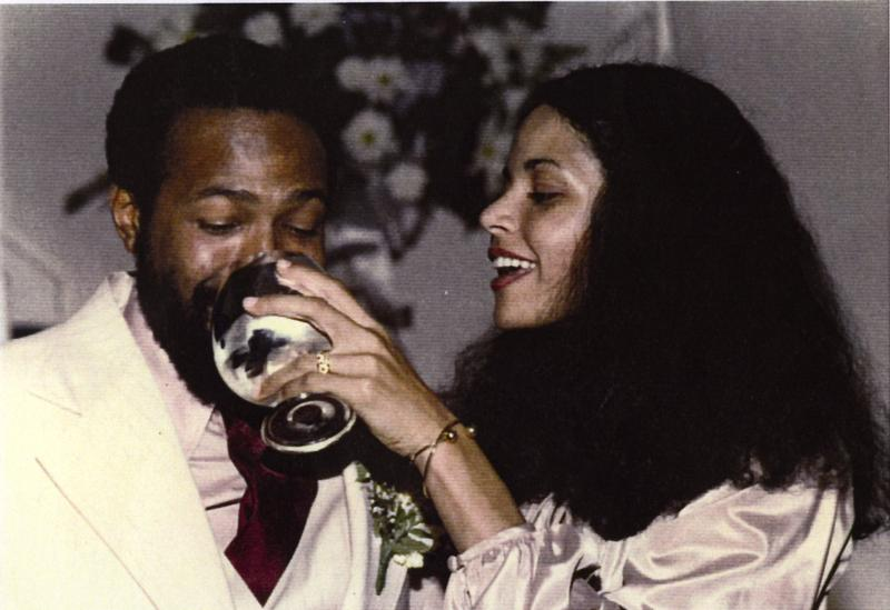 Jan and Marvin Gaye on their wedding day