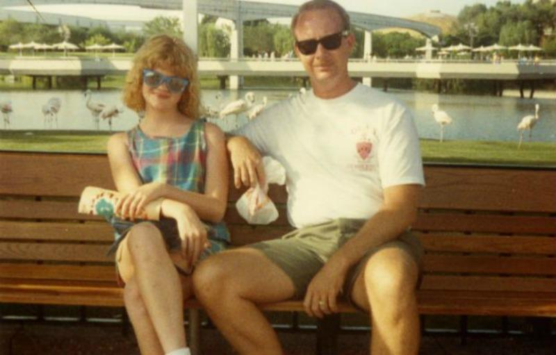 Whitney Joiner and her father, Joe.