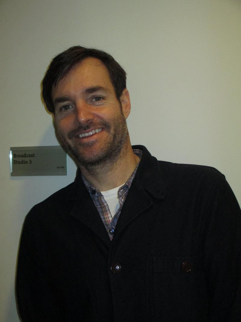 Will Forte in the WNYC studios