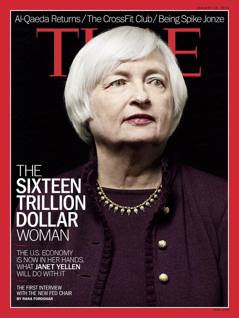 Janet Yellen on the cover of <em>Time</em> magazine