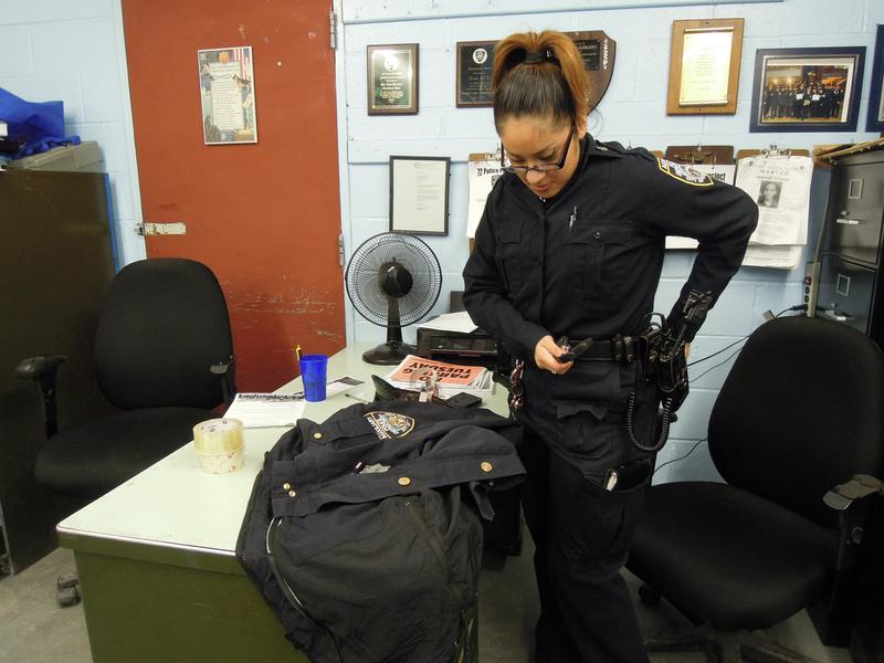 Yesenia Bravo is a high school student who also works as an Auxiliary Police Officer with the N.Y.P.D.