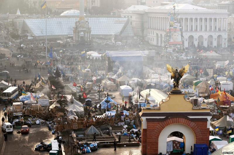 The encampment in Kiev's Independence Square is fueling a revolution within Ukraine.